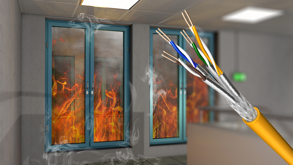 Draka S/FTP Cable with maxium fire safety